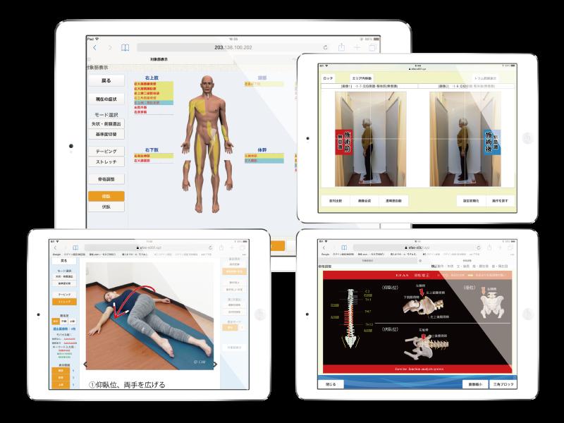 施術 整体画面 運動機能分析システム/姿勢検査/施術技術 整体院・整骨院・接骨院・リハビリなどで、腰椎ヘルニア/脊柱管狭窄症/五十肩/変形性膝関節症の早期改善と再発を予防します。運動分析は根本施術として利用される独自の施術方法です。アスリートや大学病院の医師も通われる整体技術です。京都市右京区 太秦天神川駅徒歩2分 京都市右京区、中京区、上京区にお住まいの方は、【松村整体】にお任せください。